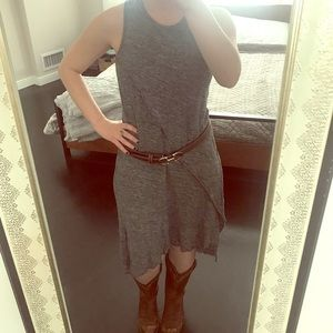 Alternative Apparel Dresses - Gray linen summer dress
